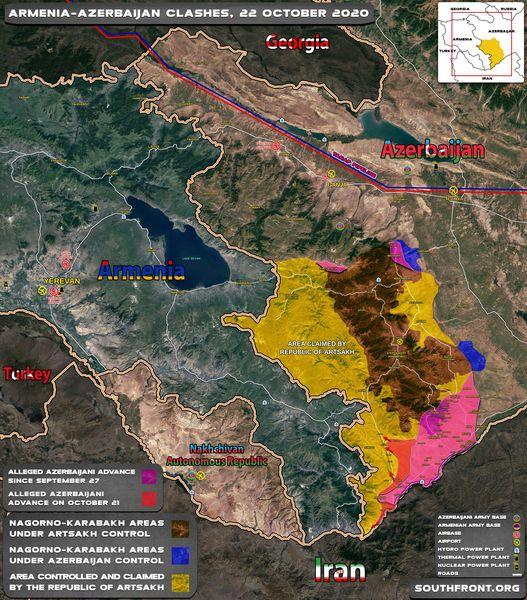 ЈУЖНИ ФРОНТ СЕ РАСПАДА - ЈЕРМЕНИ ГУБЕ ГРАНИЦУ СА ИРАНОМ: Азербејџан напредује ка стратешком коридору - прети катастрофа